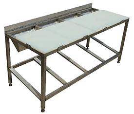 Стол для полуфабрикатов (4-10 ящиков)