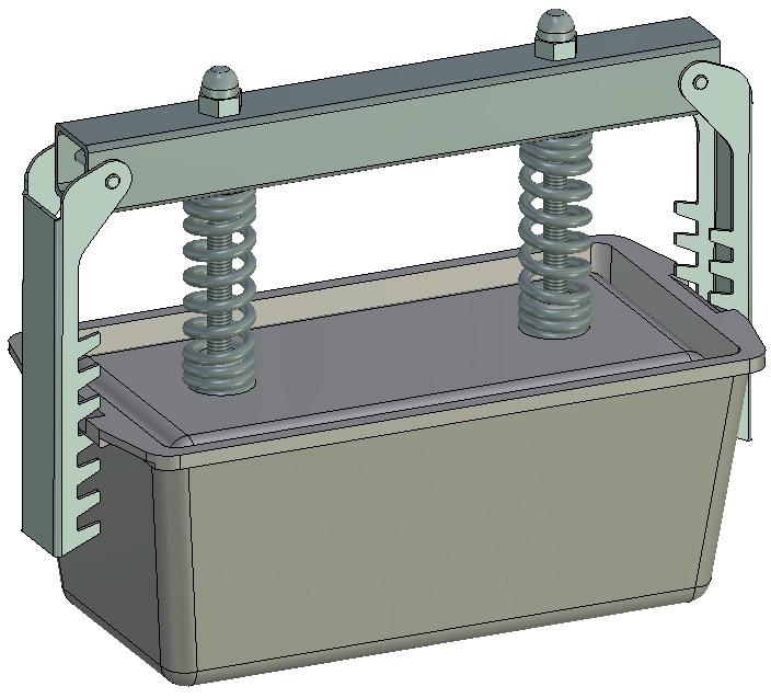 Пресс-форма Прямоугольная № 2 алюминий