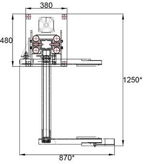 Пневматический подъёмник-загрузчик - схема 2