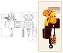 Цепные электротельферы типов В и ВУ (Болгария)