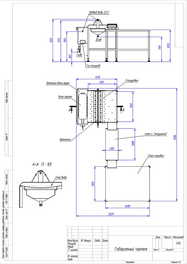 Оттаивательно-глазировочный участок (ОВГУ) - схема