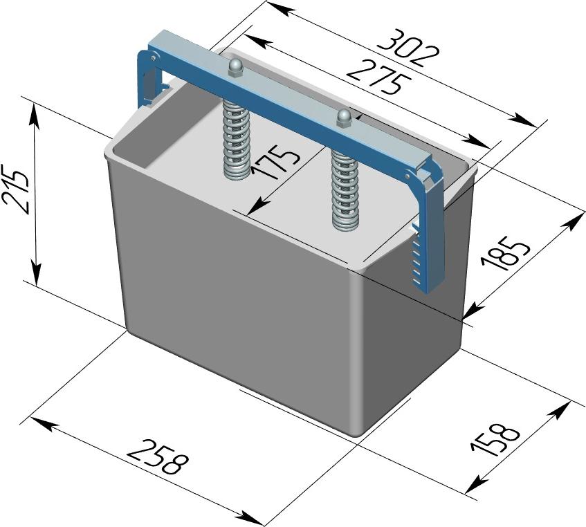 Пресс-форма Прямоугольная № 3 алюминий