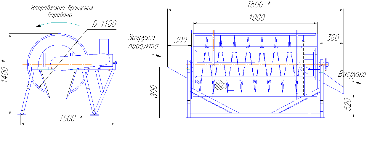 Галтовочный комплекс - схема